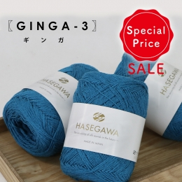 <Limited quantity>GINGA-3 BLUE HAWAII / SILK NOIL ...