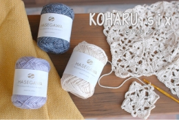 KOHARU six / SPUN SILK YARN / 25gram
