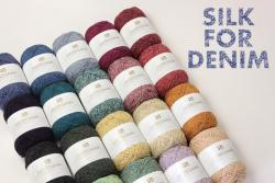 SILK FOR DENIM / Silk noil top dyed melange / 50gram