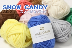 SNOW CANDY / WOOL ROVING YARN / 25gram
